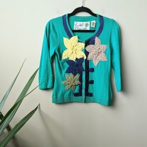 Field Flower Anthro Remaining Lillies Cardigan szS